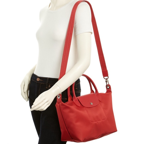 aabda7b51 Longchamp Bags | New Le Pliage Neo Medium Bag Peony | Poshmark